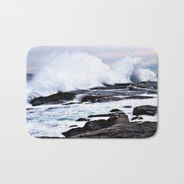 Ferocious Ocean -- Peggy's Cove, Nova Scotia  Bath Mat