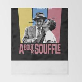 A Bout de Souffle Throw Blanket