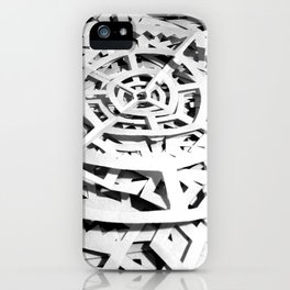Paper Cutting test mountain iPhone Case