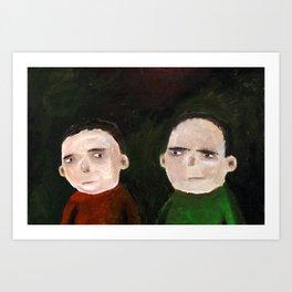 Suspicion Art Print