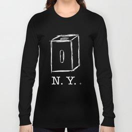 New York apple box (white) Long Sleeve T-shirt