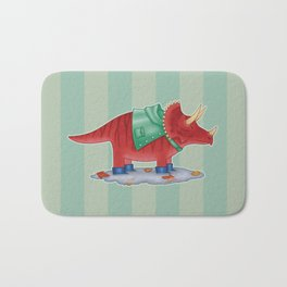 Triceratops in Boots Bath Mat