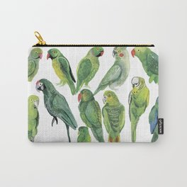 Time for 12 green parrots Carry-All Pouch