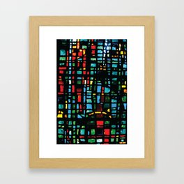 Stained Glass - House on the Rock Style... Framed Art Print