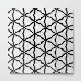 Modern Decor Black and White Geo Pattern Metal Print