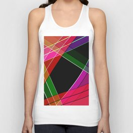 Colored silk Unisex Tank Top