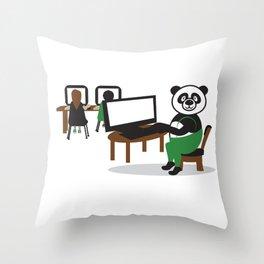 Panda Teacher Throw Pillow