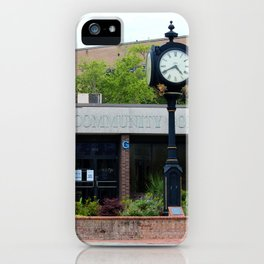 Clock At The College iPhone Case