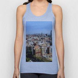 Barcelona Skyline Unisex Tank Top