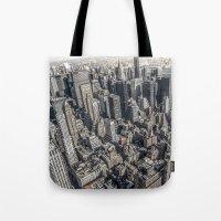 manhattan Tote Bags featuring Manhattan by Nicklas Gustafsson