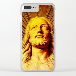 Because He Lives I Can Face Tomorrow Clear iPhone Case