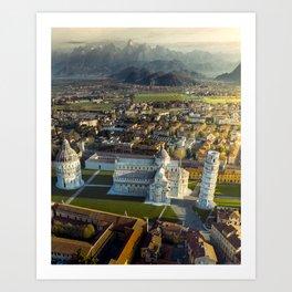 Pisa from a different light Art Print