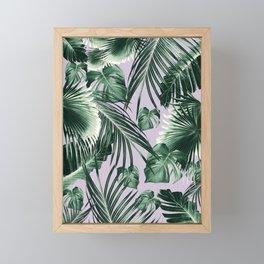Tropical Jungle Leaves Dream #8 #tropical #decor #art #society6 Framed Mini Art Print