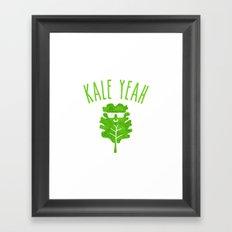 KALE YEAH Framed Art Print