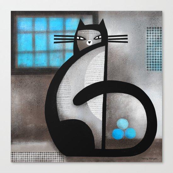 BLUE WINDOW Canvas Print