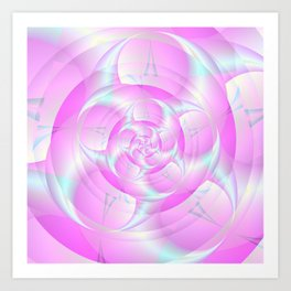 Spiral Pincers in Pink and Blue Art Print