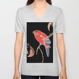 Red Parrot A Unisex V-Neck