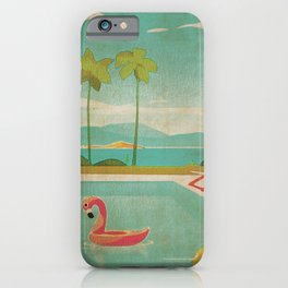 Palm Springs Life Kitschy Retro Vintage Landscape Watercolor Mid Century iPhone Case