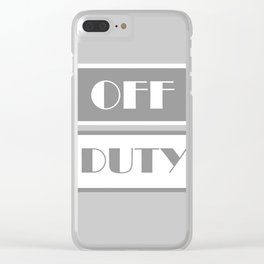 Off Duty Clear iPhone Case