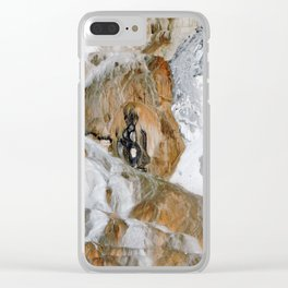 Travertine Mammoth Hot Springs Yellowstone Clear iPhone Case