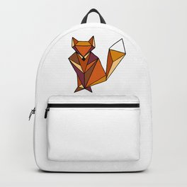 Geometric Fox Orange Palette Backpack