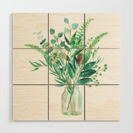 greenery in the jar Wood Wall Art