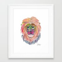 courage Framed Art Prints featuring Courage by Jhoanna Monte