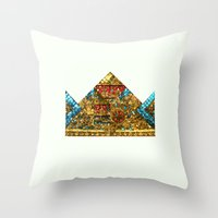crown Throw Pillows featuring CROWN by TANGRAMMAR