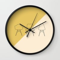 eames Wall Clocks featuring Eames Chairs by Nadia Castro
