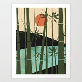 Bamboo curtain Art Print