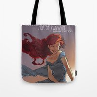 1989 Tote Bags featuring NOUVEAU 1989 by Lettie Bug