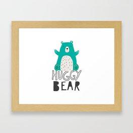 Huggy Bear Framed Art Print