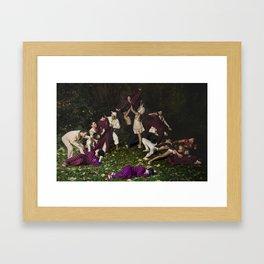 Anna and the Unicorn Framed Art Print