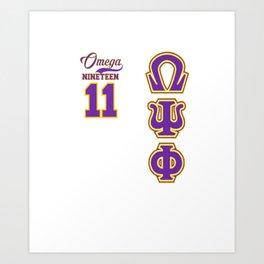 Mens Omega Psi Phi shirts / Omega shirts / Que / Bruhz Art Print