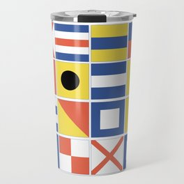 Nautical Flags Travel Mug