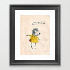 Things my friends say Framed Art Print