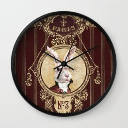 Chocolate rabbit Wall Clock
