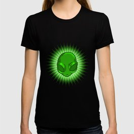 Alien In Bursting Star T-Shirt Extraterrestrial Space Tee T-shirt