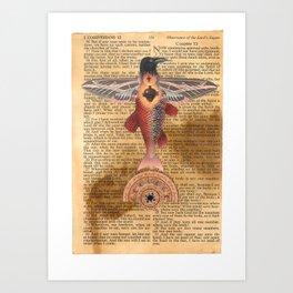Sacred Heart Crow Art Print