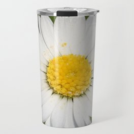 Closeup of a Beautiful Yellow and White Daisy flower Travel Mug