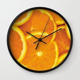 Orange Overload Wall Clock