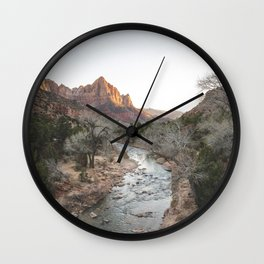 Canyon Junction, Zion National Park, Utah Wall Clock