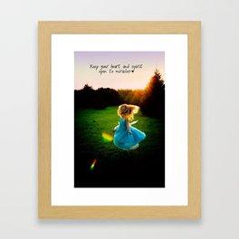 Heart and Spirit Framed Art Print