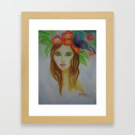 beauty reflect Framed Art Print