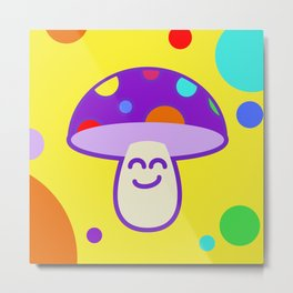 Shroomie - The friendly Magic Mushroom Metal Print