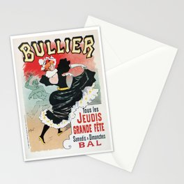 Bullier French dance hall days Stationery Cards