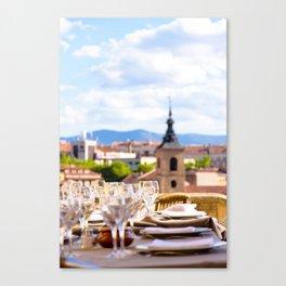 Fine Dining in Segovia Canvas Print