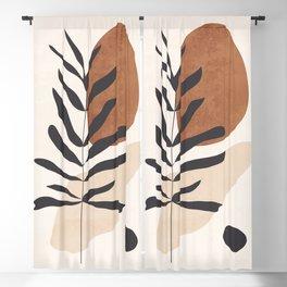 Abstract Art /Minimal Plant 12 Blackout Curtain