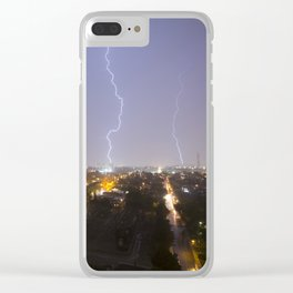 City Lightning. Clear iPhone Case