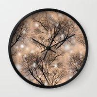 fairies Wall Clocks featuring Fairies  by MinaSparklina